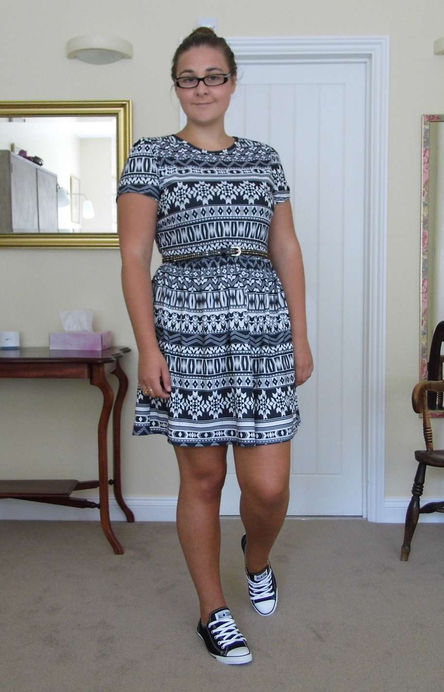 Aztec dress & Converse 1