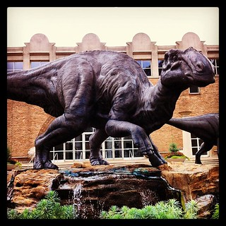 At the'Bank with the kiddos... #weloveatl #fernbank #museum of #natural #history #dinosaur