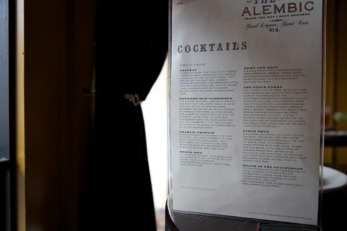Alembic menu