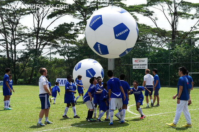 chelsea kids playing big balls