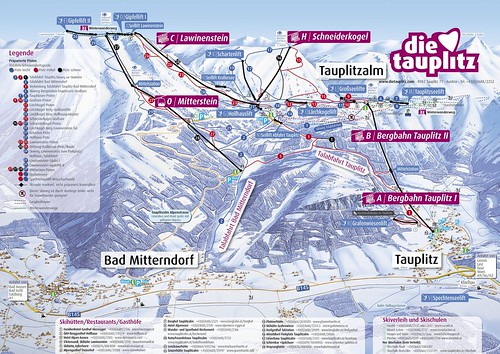 Tauplitz - mapa sjezdovek