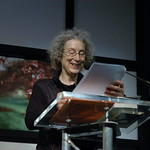Margaret Atwood reading from her work |
