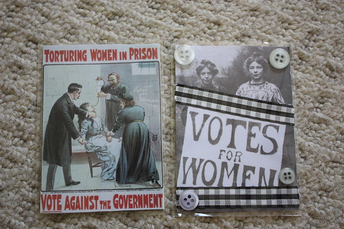 Suffragette ATCs