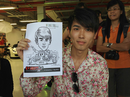 caricature live sketching for NTUC U Grand Prix Experience 2013 - 23