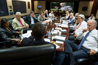 Obama Meets with Security Council in the White House Situation Room