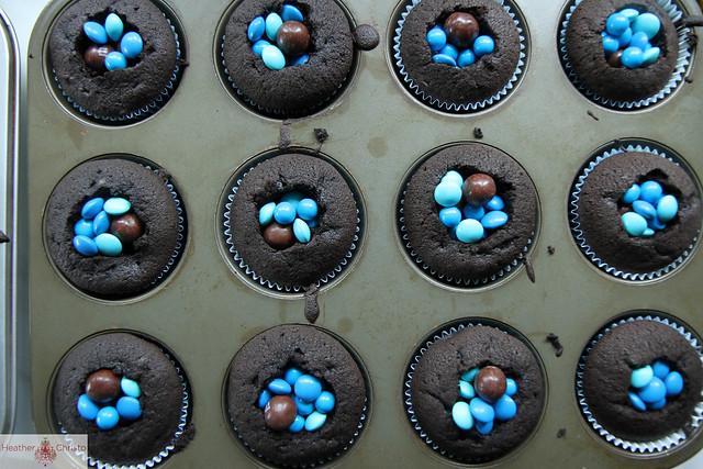 Triple Chocolate Surprise Cupcakes Heather Christo