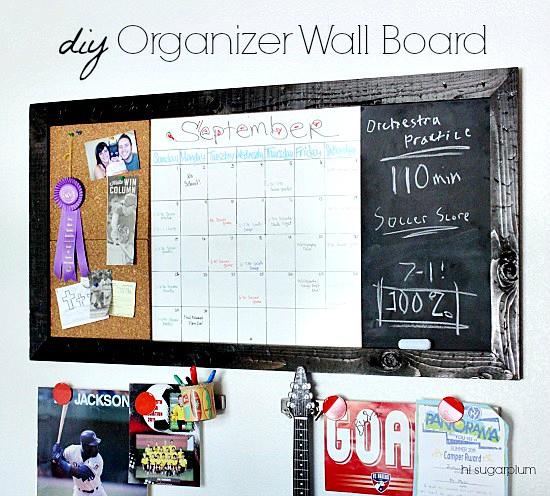 Diy Wall Calendar Organizer : Hi sugarplum pb teen inspired diy large organizer wall
