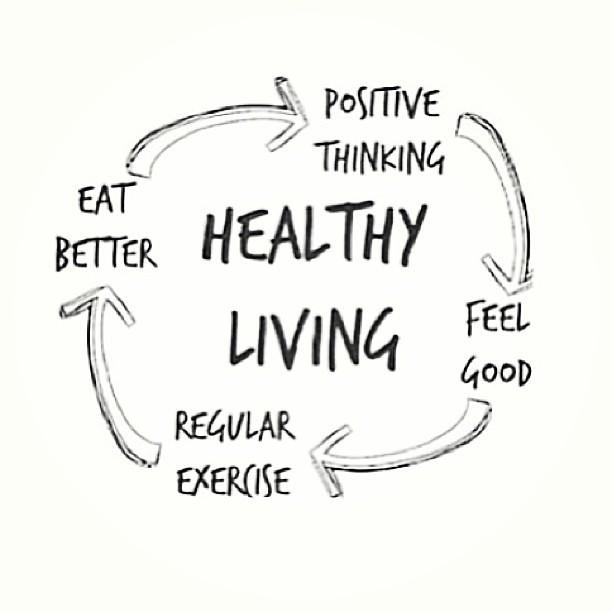 healthy living   regular exercise   eat better   positive