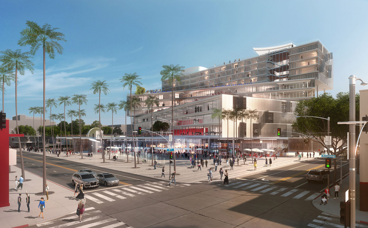 The plaza at Santa Monica, USA design by OMA