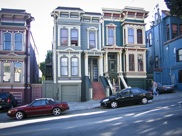 maisons victoriennes victorian houses haight street. Black Bedroom Furniture Sets. Home Design Ideas