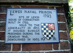 Photo of House of Correction, Lewes and Naval Prison,Lewes grey plaque