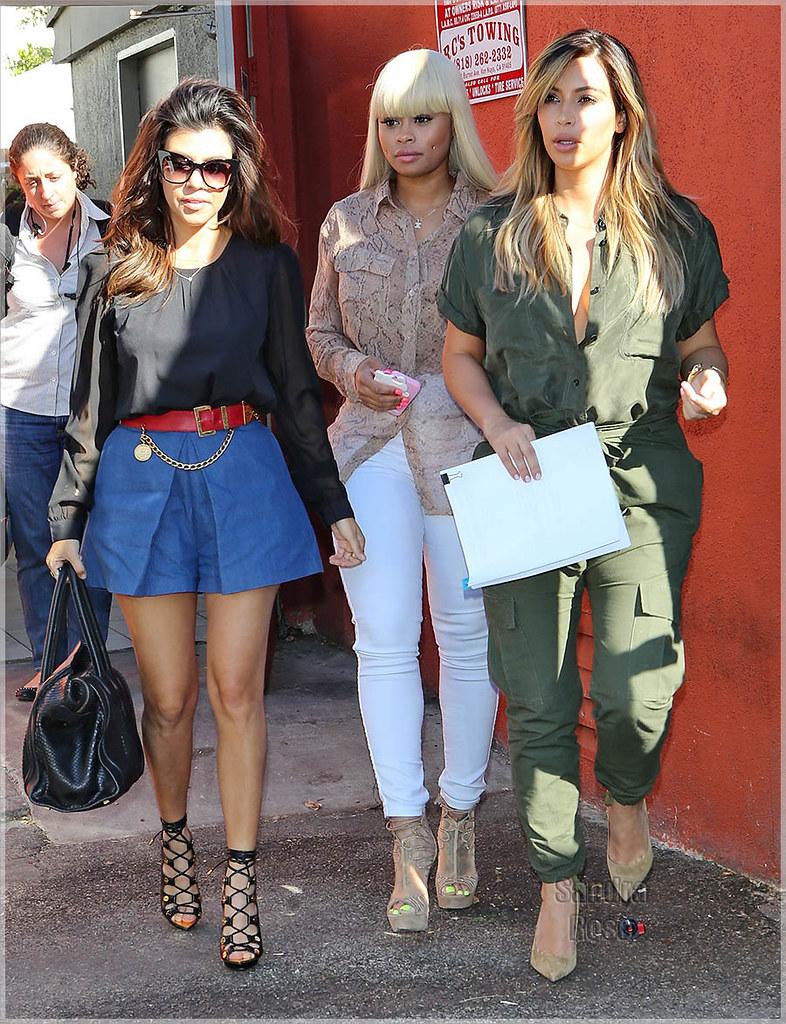 Kourtney Kardashian, Blac Chyna, Kim Kardashian