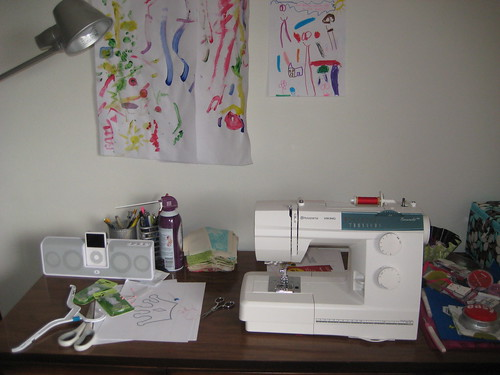 My first sewing setup