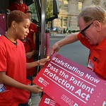 DC RNs Picket Hospital Powerbroker's Fundraiser for Alexander