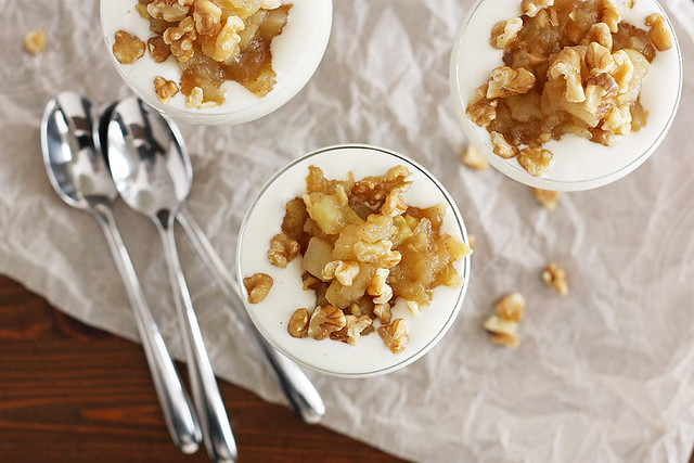 granny smith apple ginger compote + french vanilla yogurt
