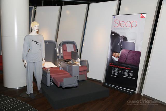 Sleeper Suits on Qantas International Business Class