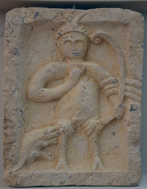 Votive relief of Silvanus (with iconography of Pan), from Split, ca. 2nd-3rd century AD, Split Archaeological Museum