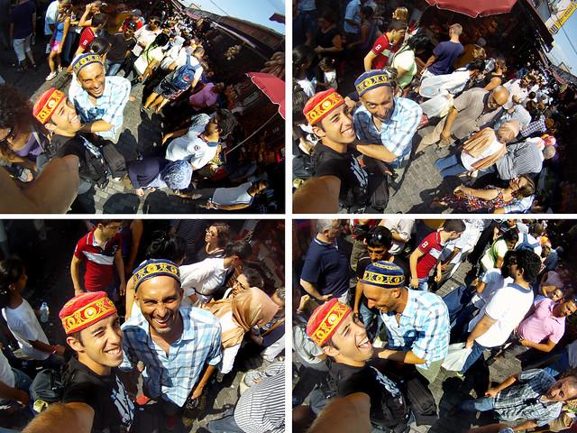 Muertos de risa en el mercado de Eminönü