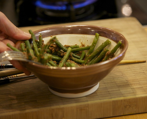 GOMA-AE French beans and sesame seeds salad