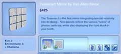 Tesseract Mirror by Van Allen Decor
