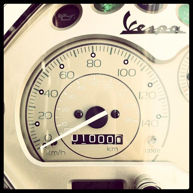 #Piaggio #Vespa LX125 3Vの走行距離1000km突破!慣らし期間終了!