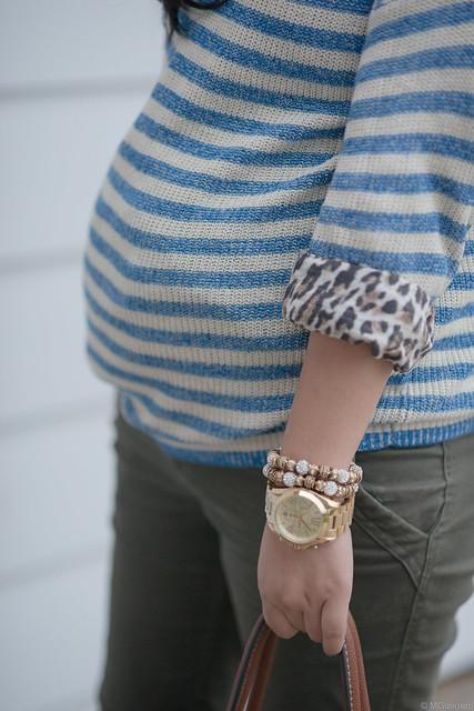 blue striped sweater 003