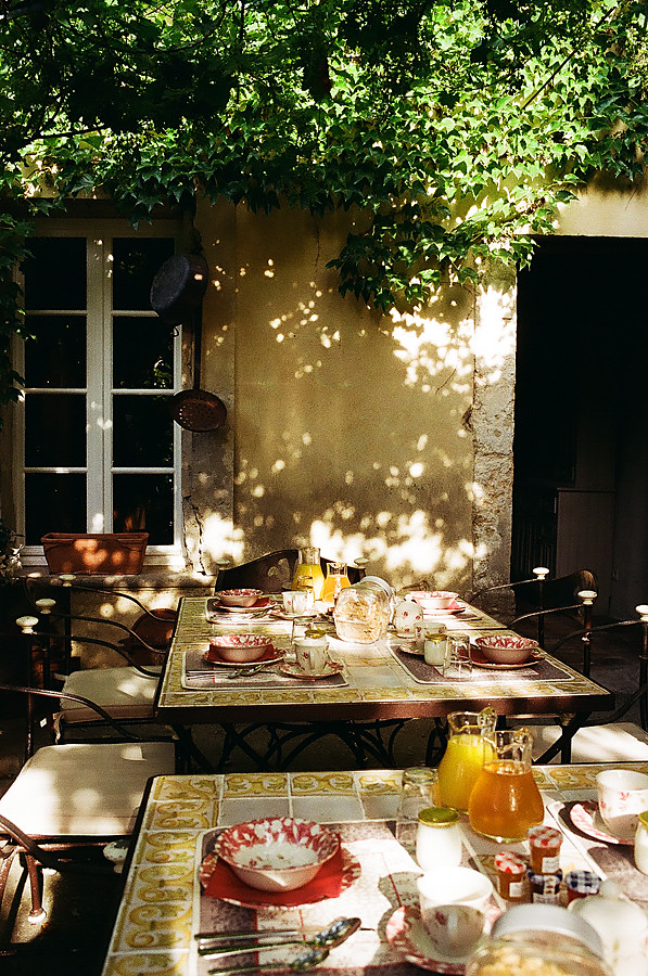 Breakfast at Les Carmes, France