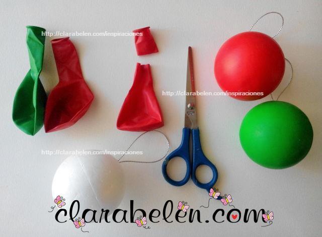 Bola de poliestireno y globos DIY paso a paso