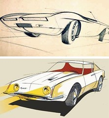 1963 Studebaker Avanti sketches