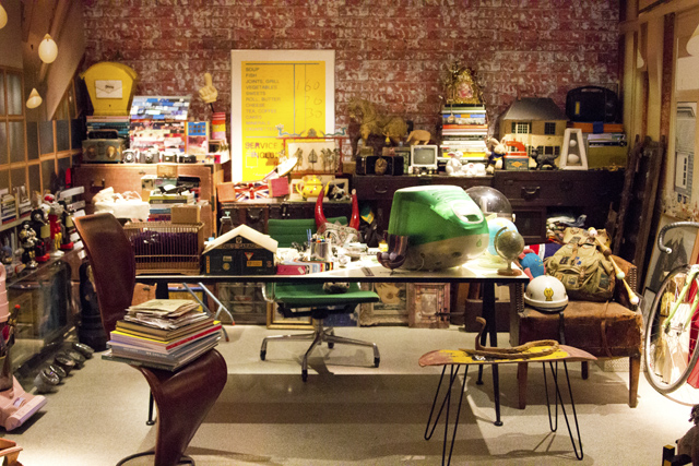 Paul Smith's cluttered office replica