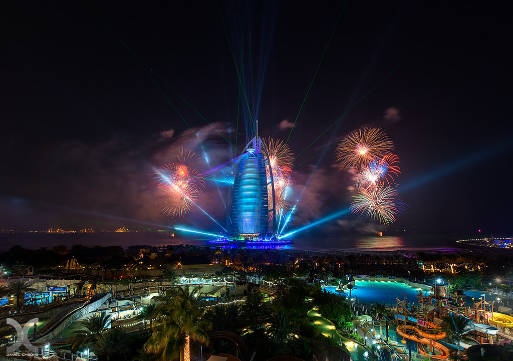 Burj Al Arab Laser Battle