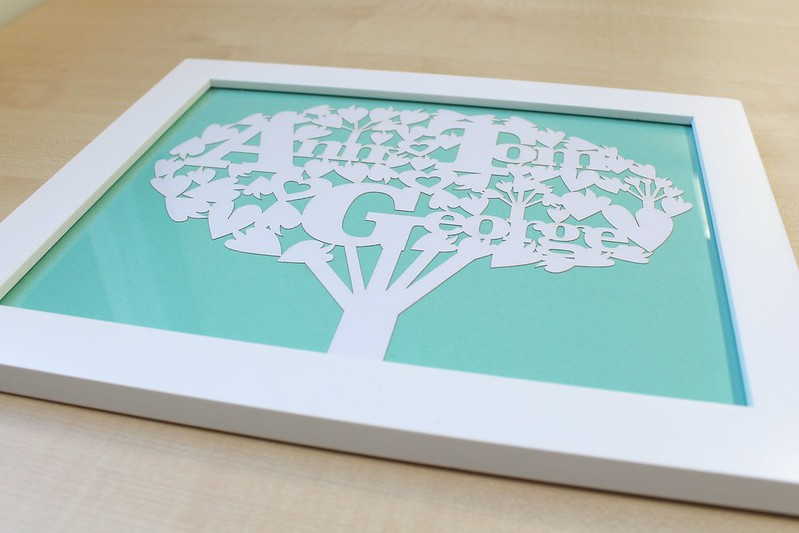 Me Things laser cut family tree