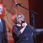 Tue, 10/12/2013 - 9:13pm - Rita Houston and Corny O'Connell intro the show. WFUV benefit concert at the Beacon Theatre, 12/11/13. Photo by Neil Swanson