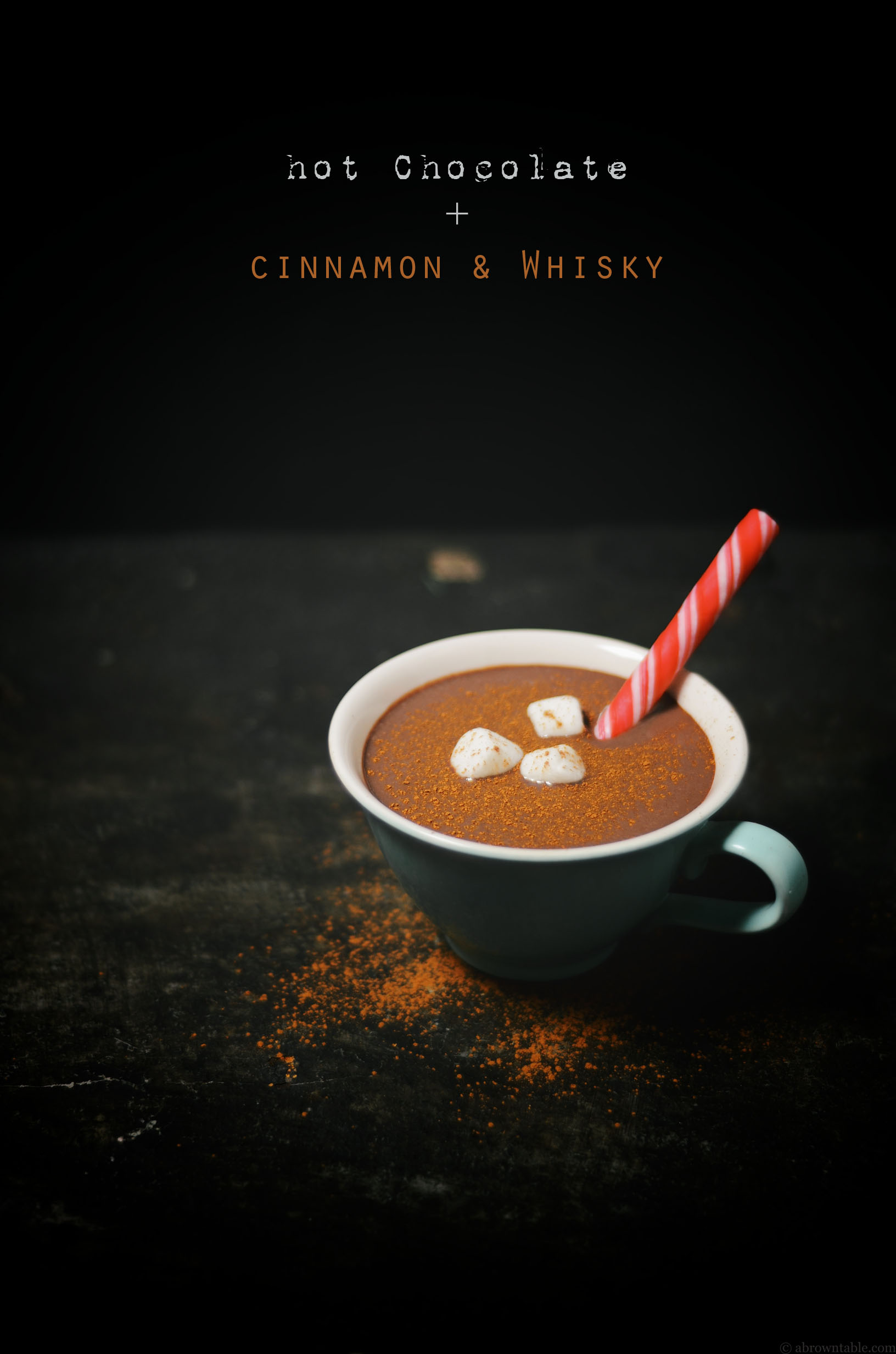 cinnamon spiced hot chocolate with whisky