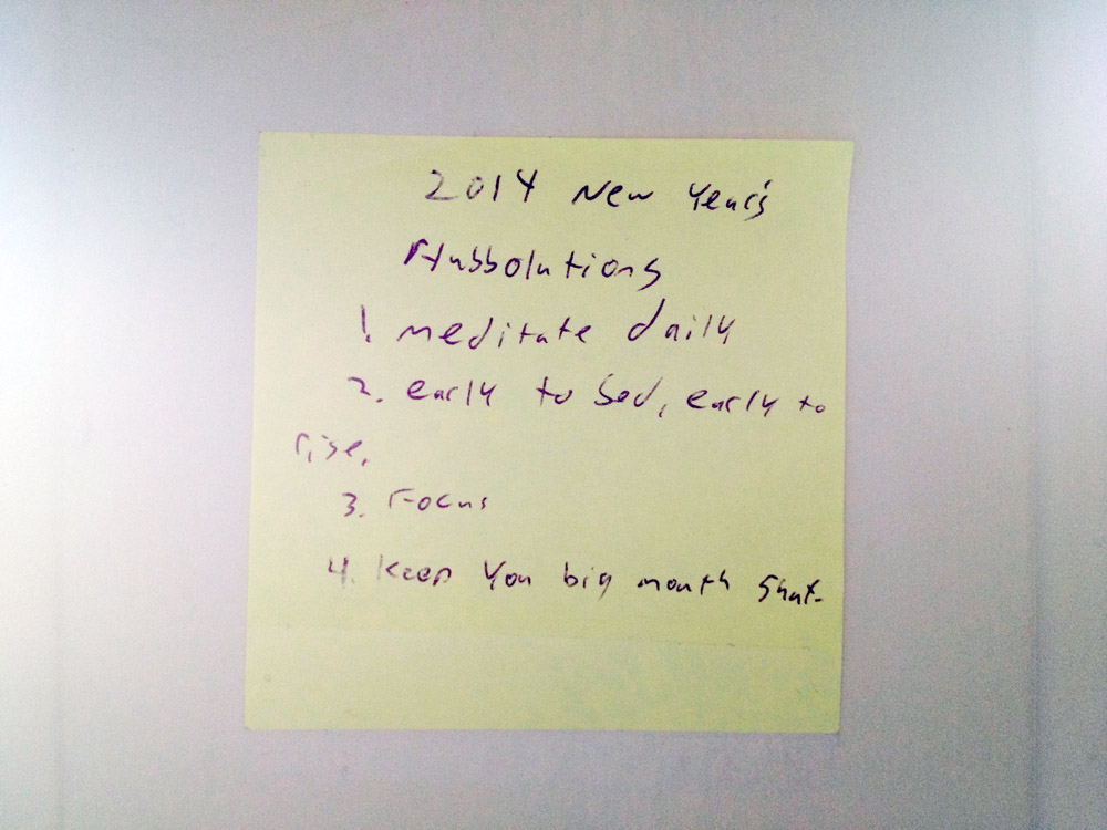 2014 New Year's resolutions 1