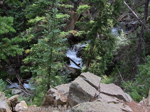 Waterfall along Pine Creek near the Cathedral Lake Trail, White River National Forest, Colorado