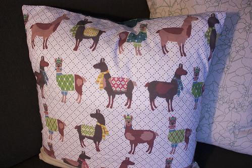 Laurie Wisbrun Llama fabric
