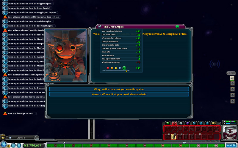 Noctaliscom Spore Space Stage Allying The Grox