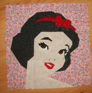 Princess 2 quilt block 2014 Snow White