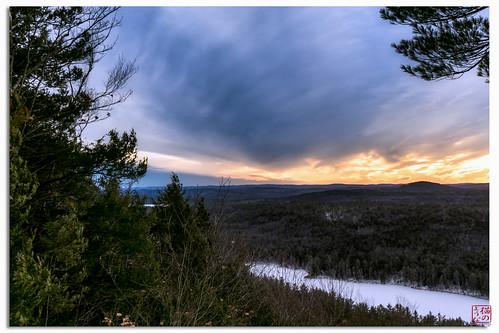 sunset snow ice unitedstates massachusetts hike royalston spiritfalls winter2013
