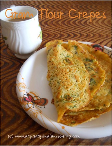 recipe of making gram flour crepes