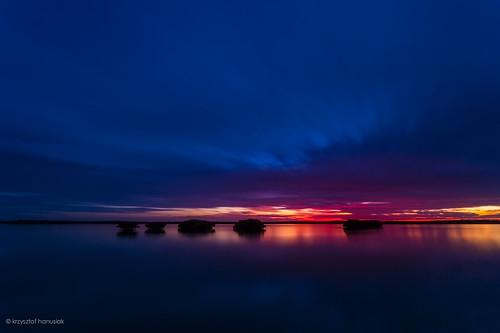 ocean sunset red sea sky sun water colors silhouette clouds dark bay unitedstates florida mangrove swamp fl marcoisland hanusiak caxambas caxambasbay