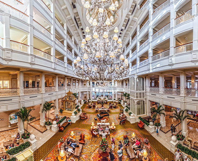Grand Floridian Lobby Panorama