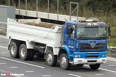 Foden 3000 8x4 Tipper - Blue & White - Den Davies Haulage - B19 BDH - M1 J10 - Luton - Steven Gray - IMG_4672