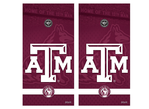 Texas A&M Cornhole Game Decal Set