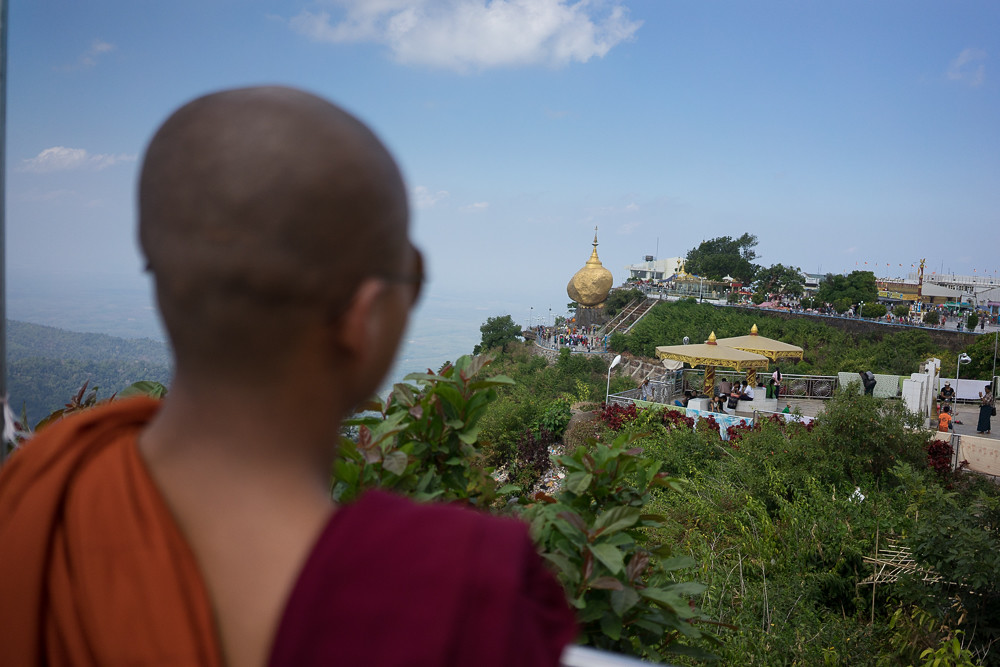 Monk and the Kyaiktiyo Pagoda - Kyaiktiyo, Myanmar