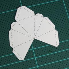 วิธีทำโมเดลกระดาษเรขาคณิตรูปกระต่าย (Rabbit Geometric Papercraft Model) 013