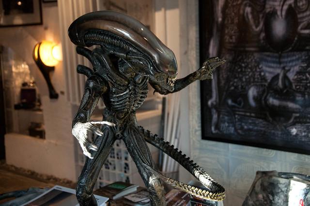 H R Giger Museum Gruyeres, Switzerland - Alien statue