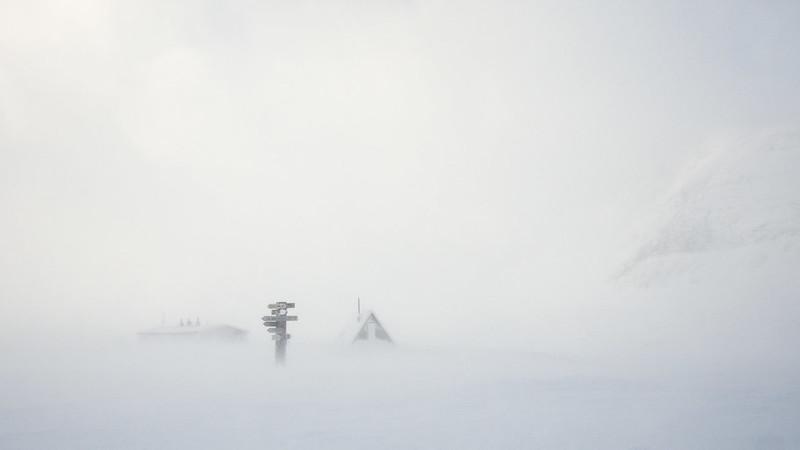 Schneesturm in Singi