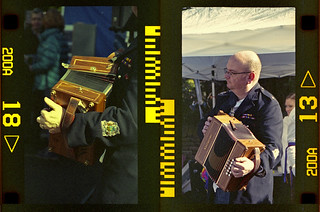 squeeze box diptych